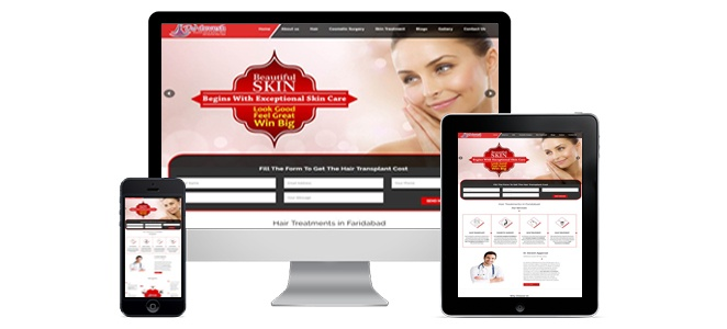 "Oxzin Creative website design for ""Dr.Devesh Clinic"" check it out!"