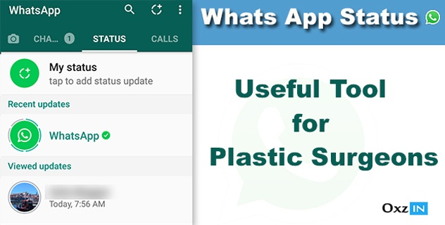 Whatsapp Status: Useful Tool for  Plastic Surgeons